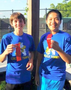 middle school tennis flight 1 finalists