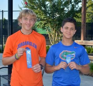 middle school tennis flight 1 winners